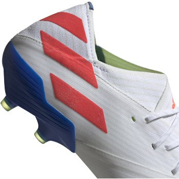 Men's Nemeziz Messi 19.1 Firm Ground Cleat  - Cloud White / Solar Red / Football Blue