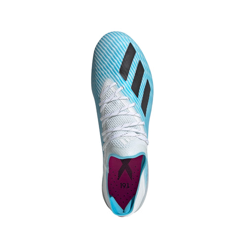Men's X19.1 Firm Ground Cleats - Bright Cyan / Core Black / Shock Pink