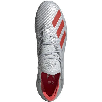 Men's X19.2 Firm Ground Cleats - Silver Metallic / Hi-Res Red / Cloud White