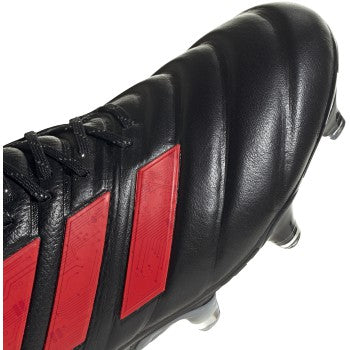 Men's Copa 19.1 Firm Ground Cleats - Core Black / Hi-Res Red / Silver Metallic