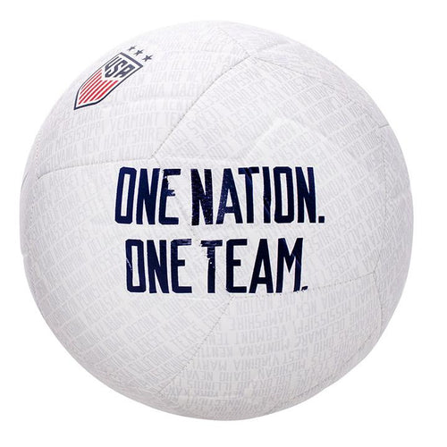USA Strike Soccer Ball - White/Pure Platinum/Gym Red/Blue Void