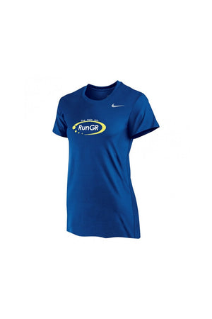 RunGR Women's SS Logo Tee - Royal