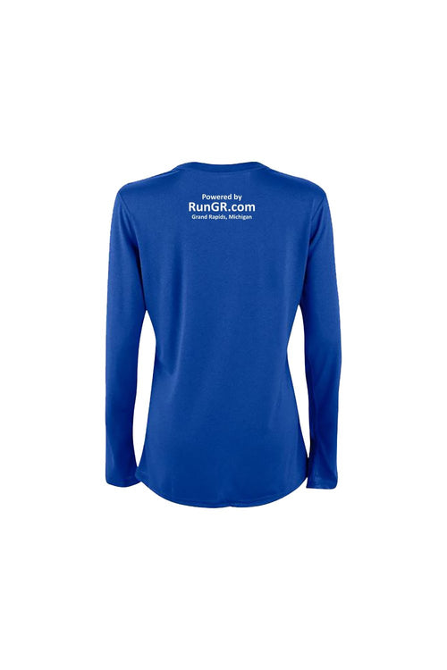RunGR Women's LS Logo Tee - Royal