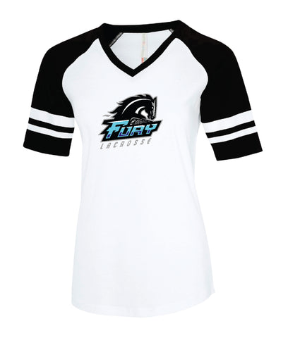 Fury Lacrosse Ladies' Cotton Baseball Jersey