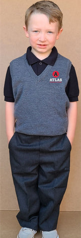 New Atlas Collection Boys Mock Fly Pull Up Trouser Uniform