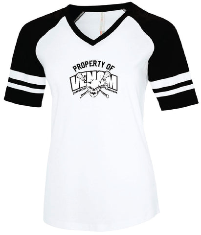 Venom Lacrosse Ladies' Cotton Baseball Jersey