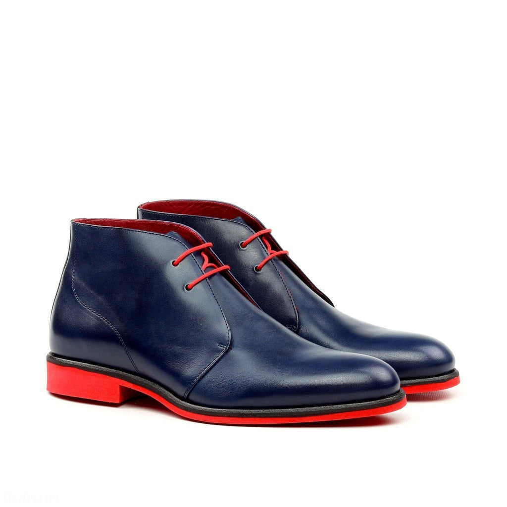 Q by Qs Jean Chukka - Navy and Red Men's Shoes