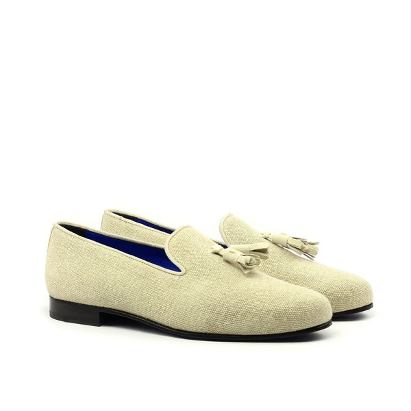 Q by Qs Miyake Slip On Ice Linen Handmade Bespoke Men's Shoes