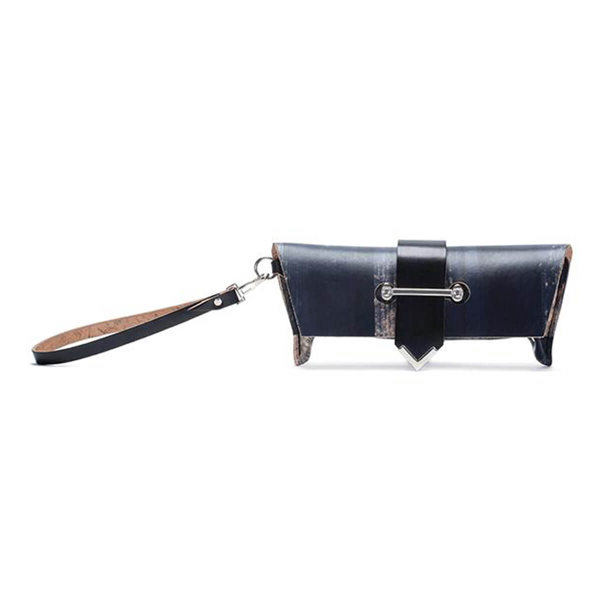 Fiveleft Leather handmade leather clutch bag - LEASHEDCLUTCH