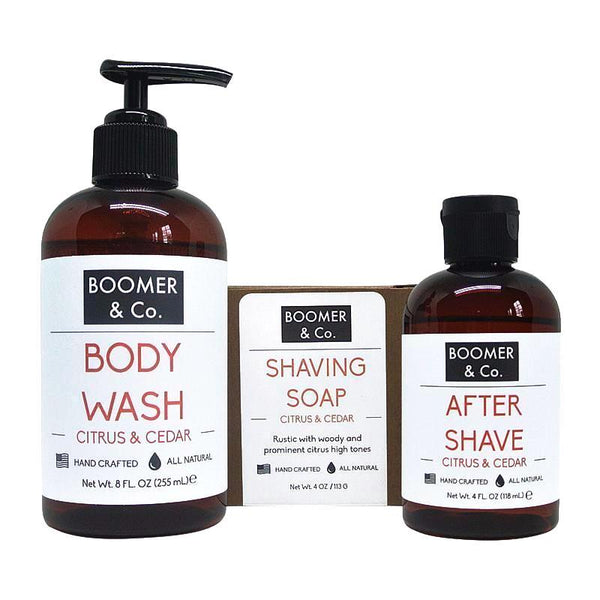 Boomer and Co Citrus and Cedar Mens Grooming Kit