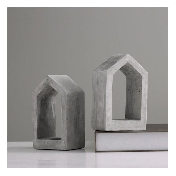 Muirwood Reclamations Concrete House Candle Holder