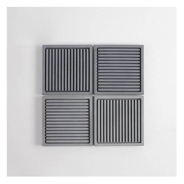 Muirwood Reclamations Striped Concrete Coaster Set