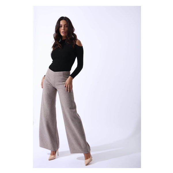 Zalinah White Sahara Trousers In Cashmere Wool - Gazelles Of The Desert Collection