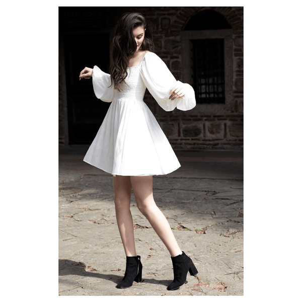 Apparel - White Silk Angel Dress