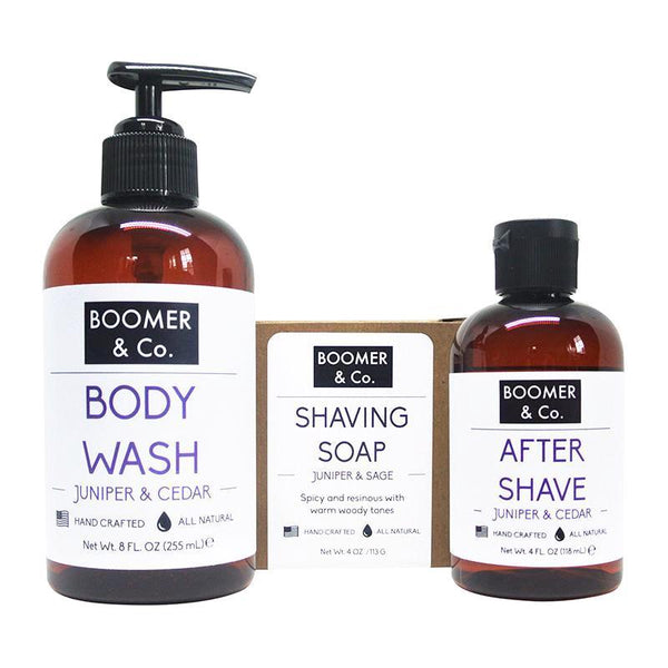 Boomer and Co Juniper & Cedar Men's Grooming Kit