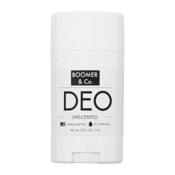 Boomer and Co Mens Unscented Natural Deodorant