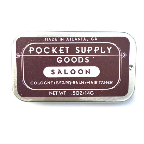 Pocket Supply Goods Saloon - Bourbon and Pine Scented Natural Grooming Balm