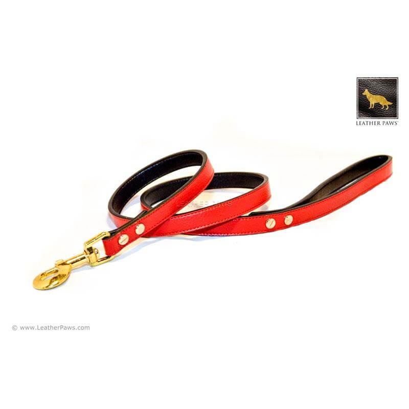 Leather Paws New York Lalee Leather Dog Leash
