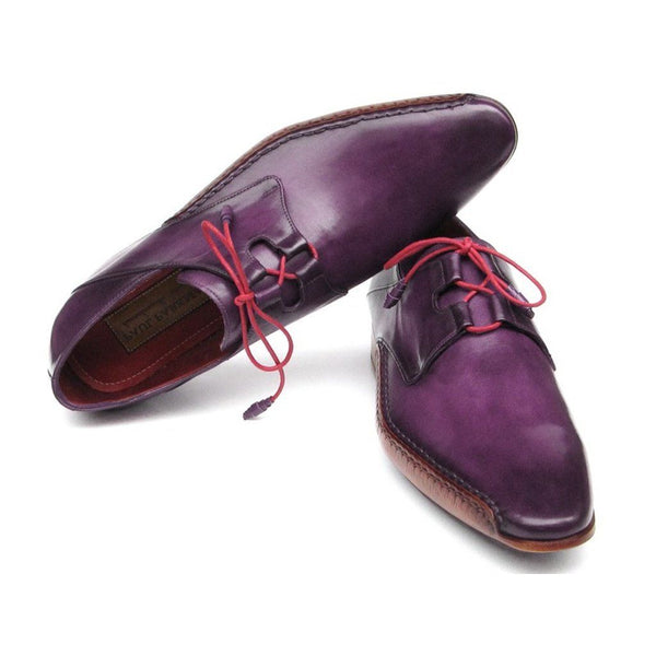 Shoes - Ghillie Lacing Side Handsewn Dress Shoes - Purple