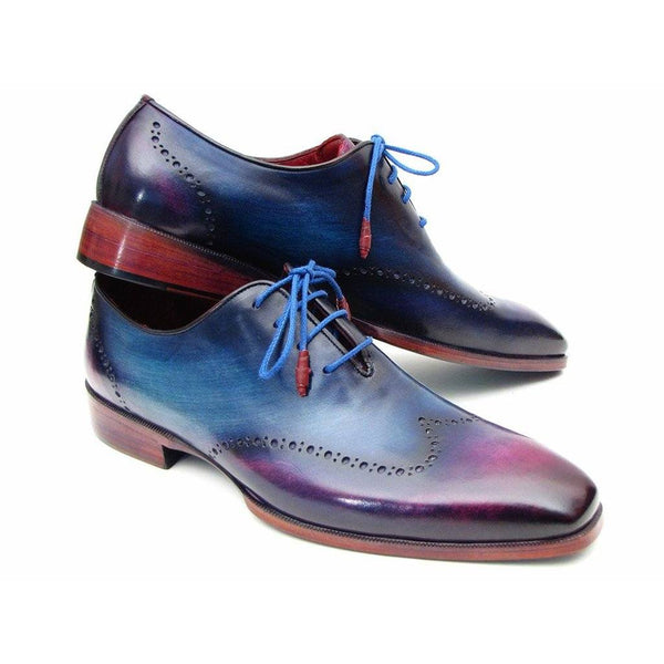 Shoes - Paul Parkman Men's Blue And Purple Ombre Wingtip Oxfords