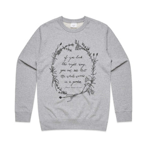 womens boho vintage nature quote jumper