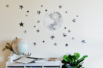 The Moon and Stars Collection - Original & NEW Super Moon - Fabric Wall Decals