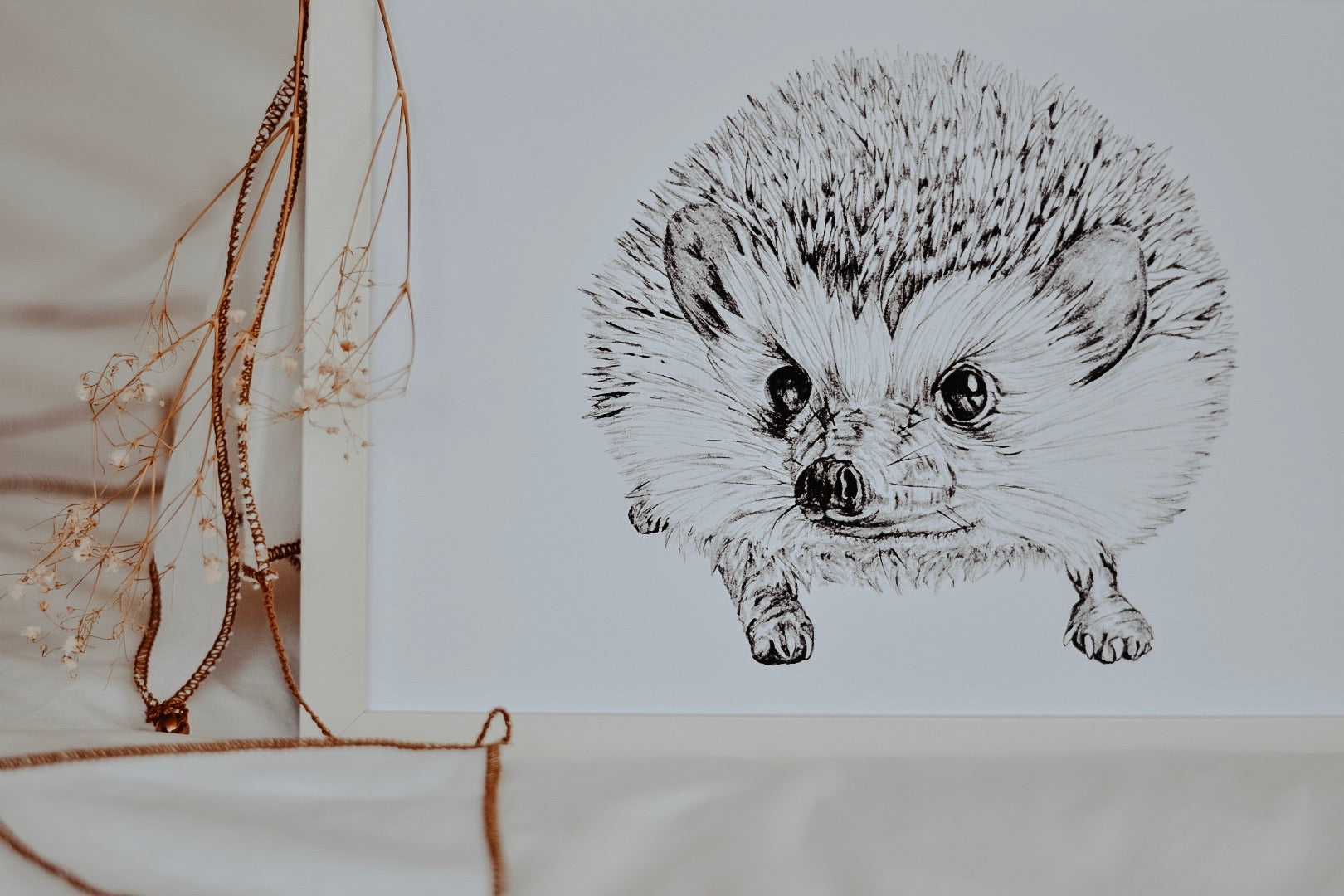 Mrs Wellington the Hedgehog Print