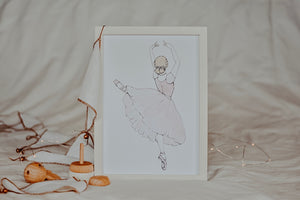 Evelyn in Arabesque Ballet Print