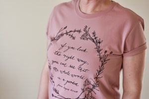 Herb Wreath Womens Tee - Rose - PRE ORDER