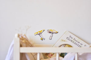 Mushroom Fabric Wall Decals - Separates