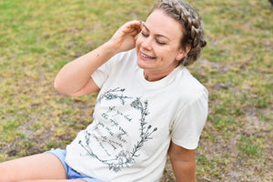 Herb Wreath Womens Tee - Natural