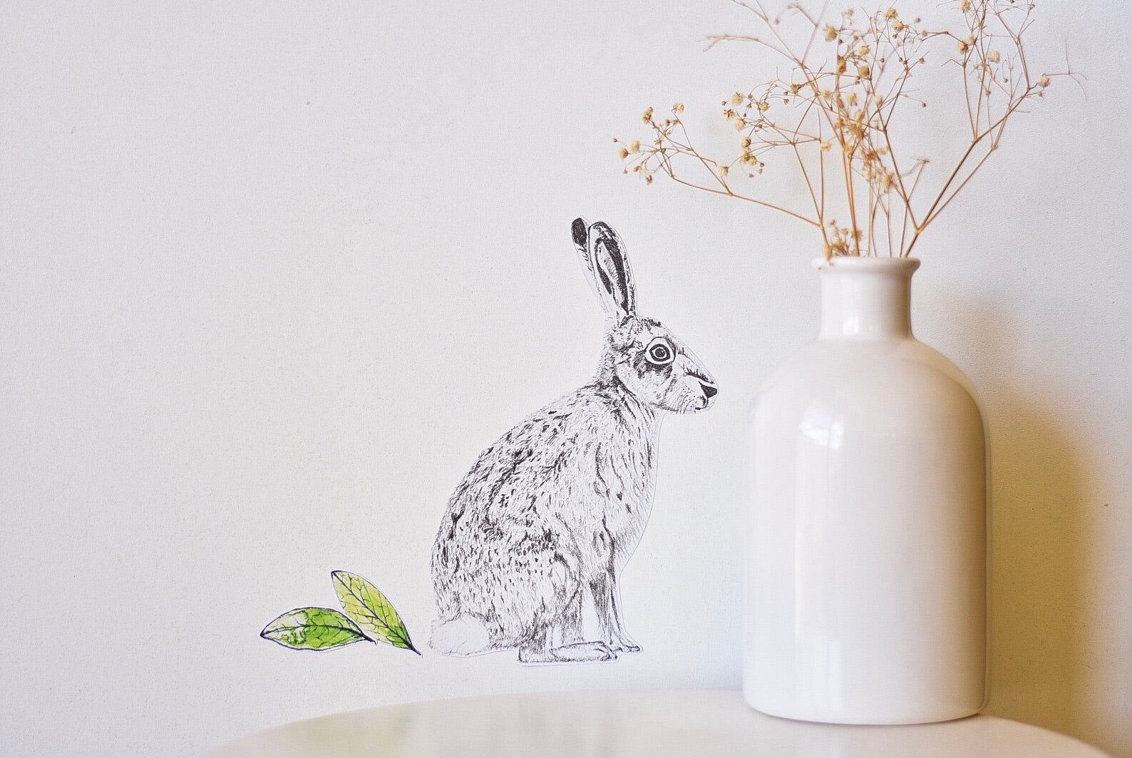 Mr Hare Fabric Wall Decal - Separate