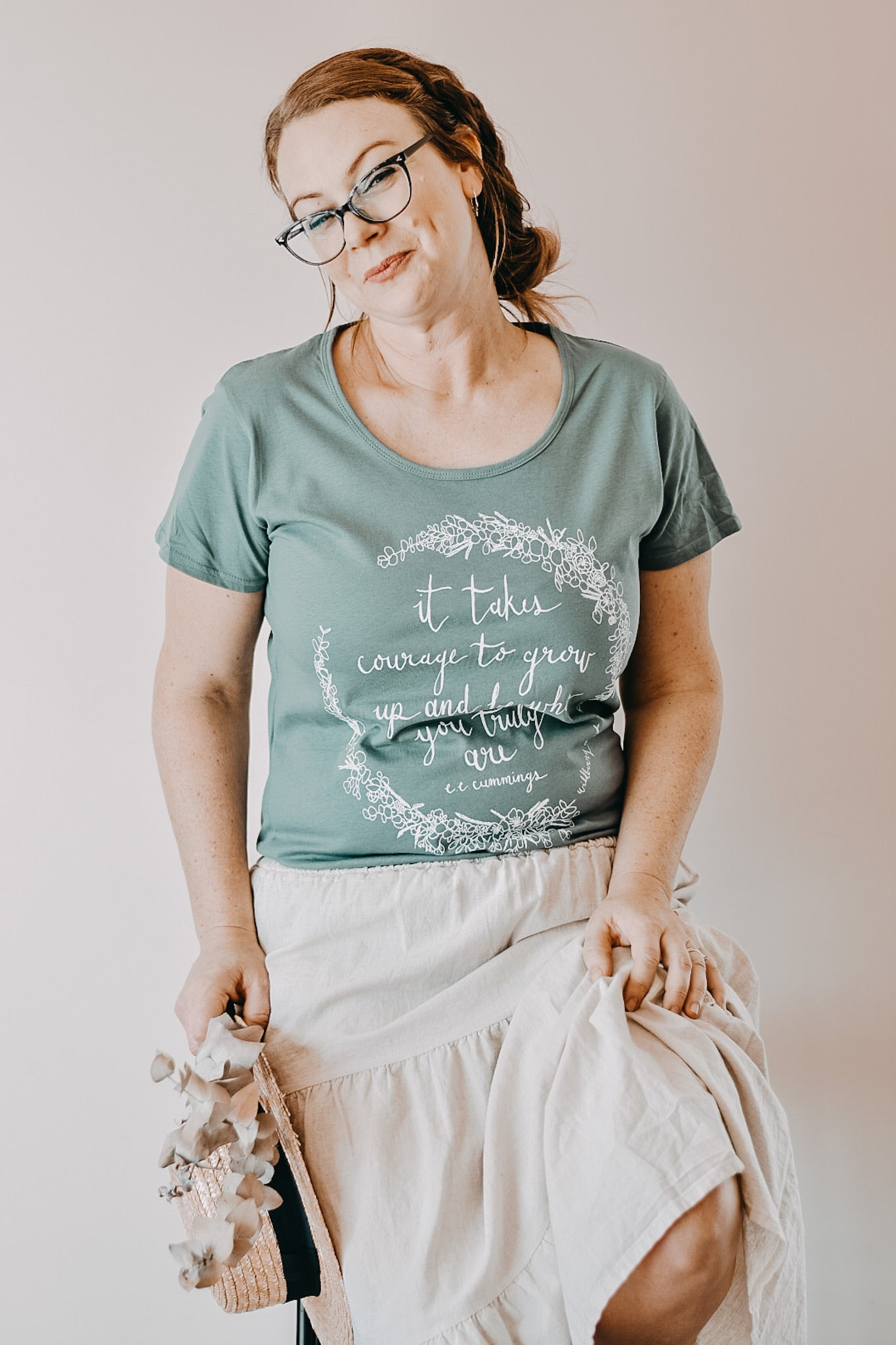 It Takes Courage Womens Tee - Sage