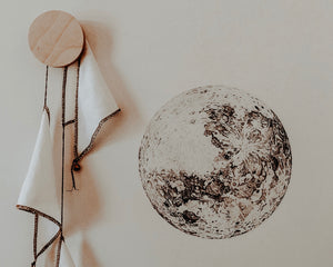 The Moon Fabric Wall Decal - Separate