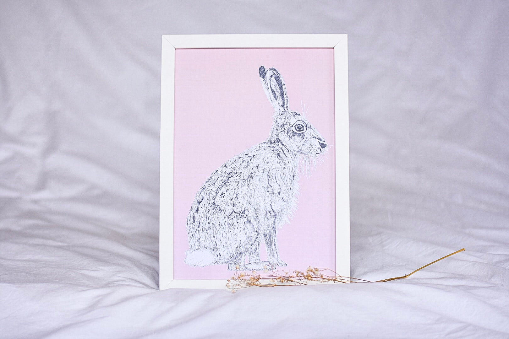 Hare in Dusty Pink