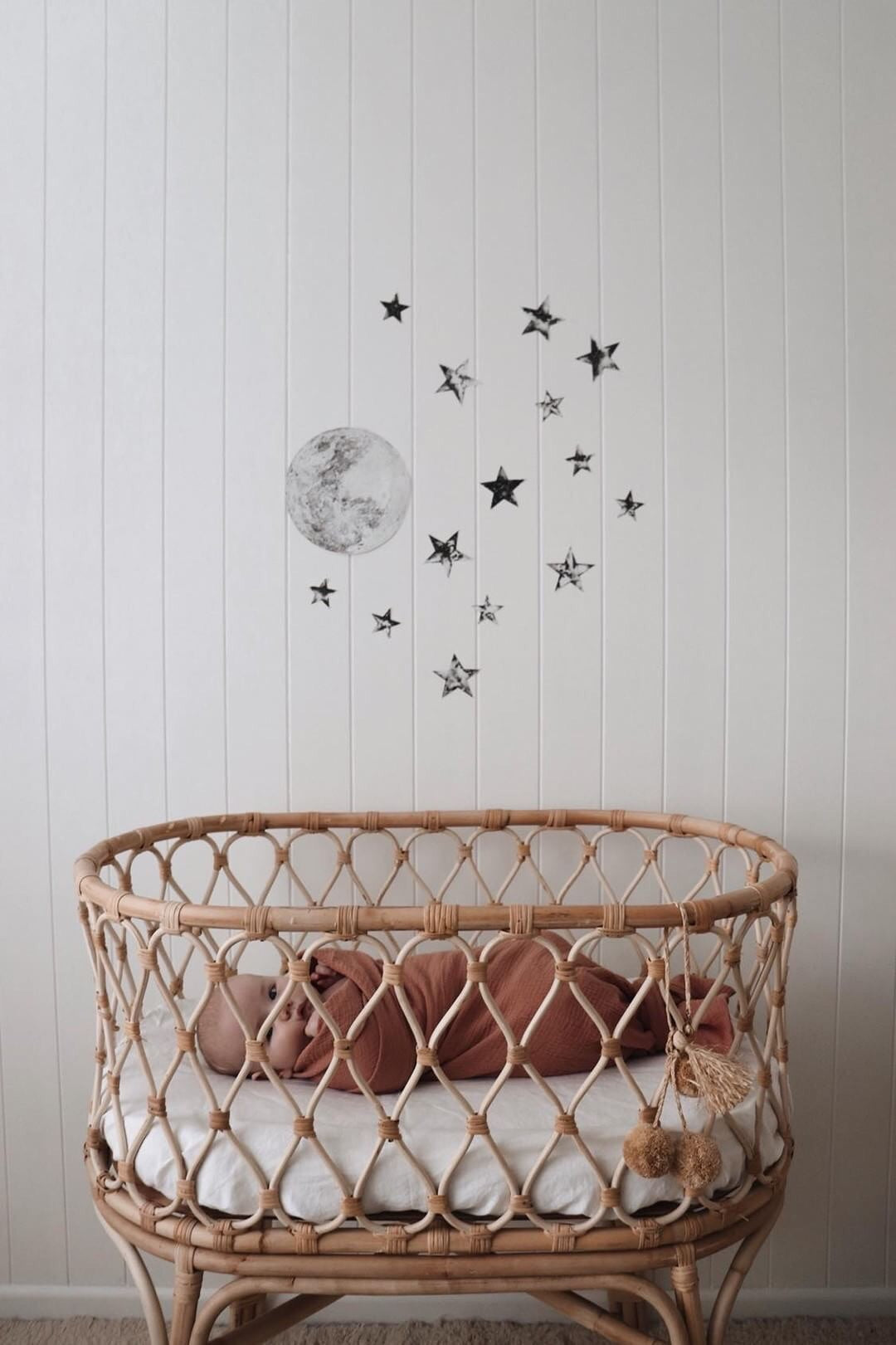 The Moon and Stars Collection - Fabric Wall Decals