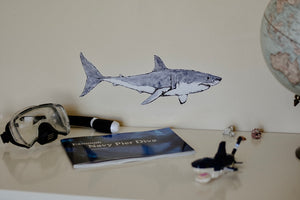 Duke the Great White Shark Fabric Wall Decal - Separate