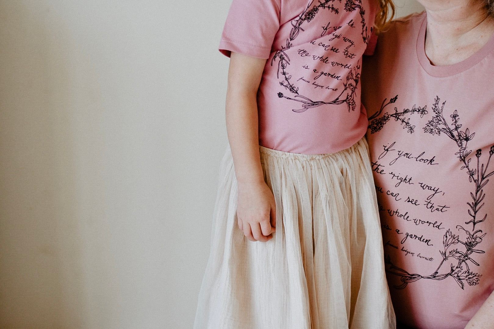 Herb Wreath KIDS Tee - Rose Quartz LIMITED EDITION