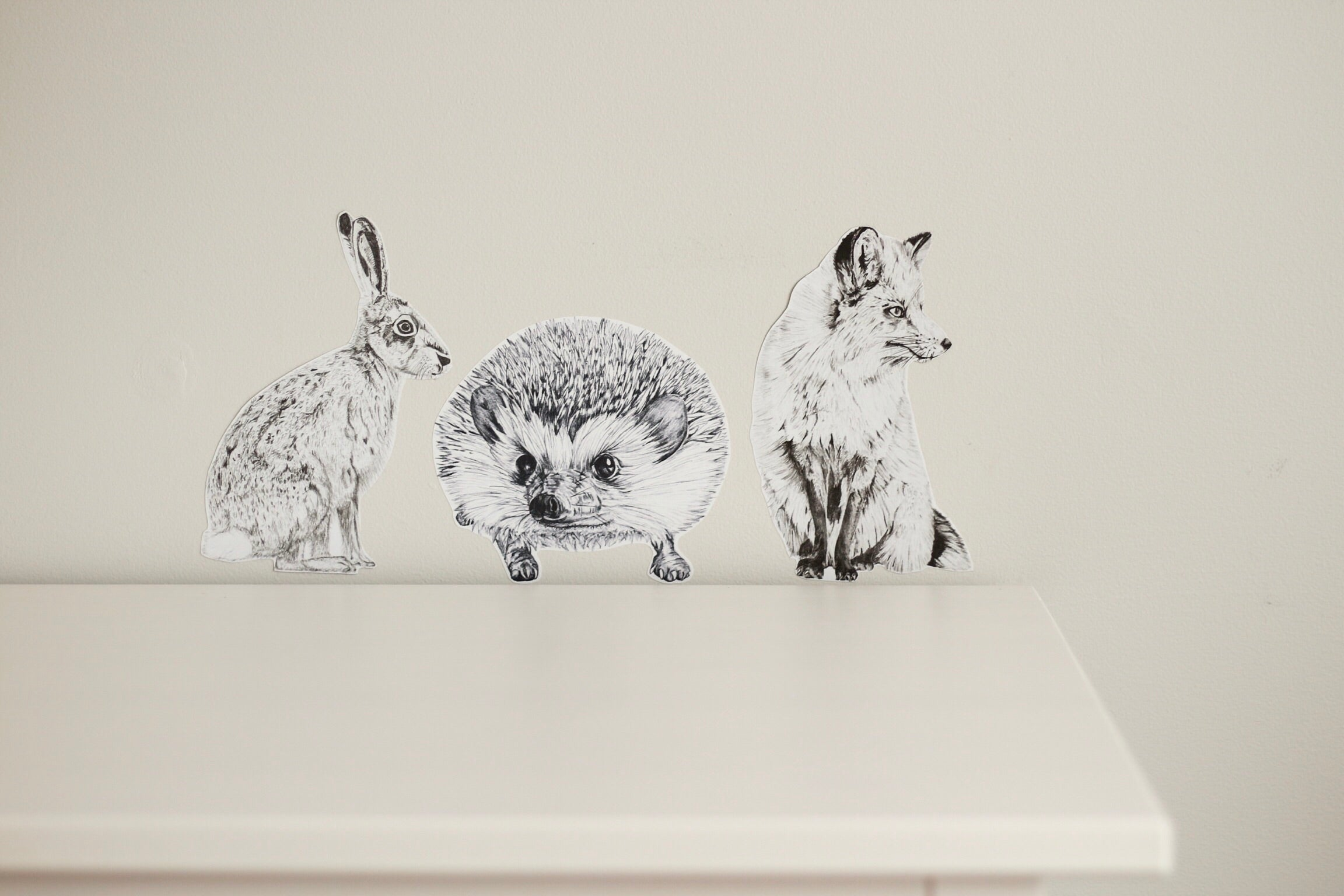 Mr Hare Fabric Wall Decal