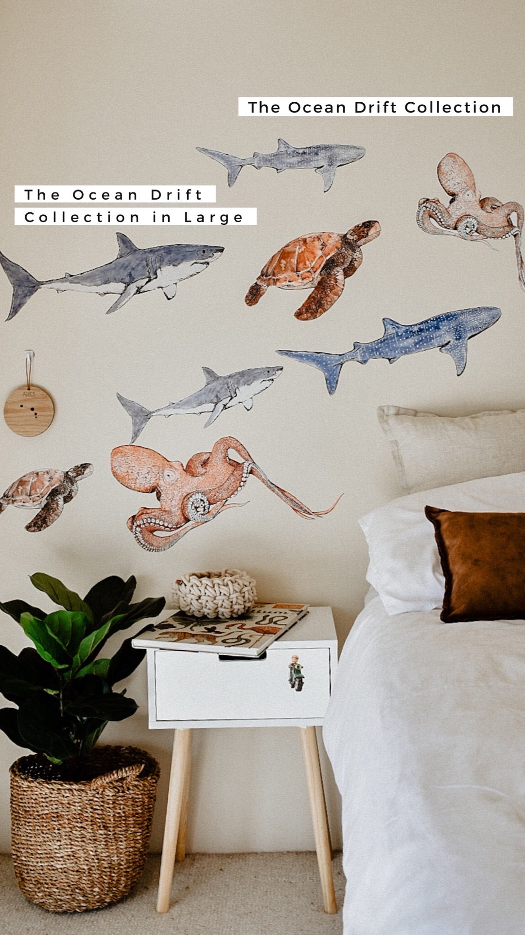 The Ocean Drift Collection - Original & NEW Extra Large - Fabric Wall Decals