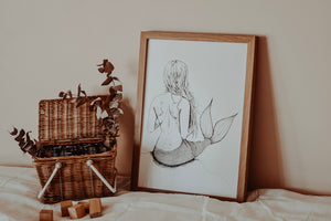 Gilled Goddess Mermaid - Mono