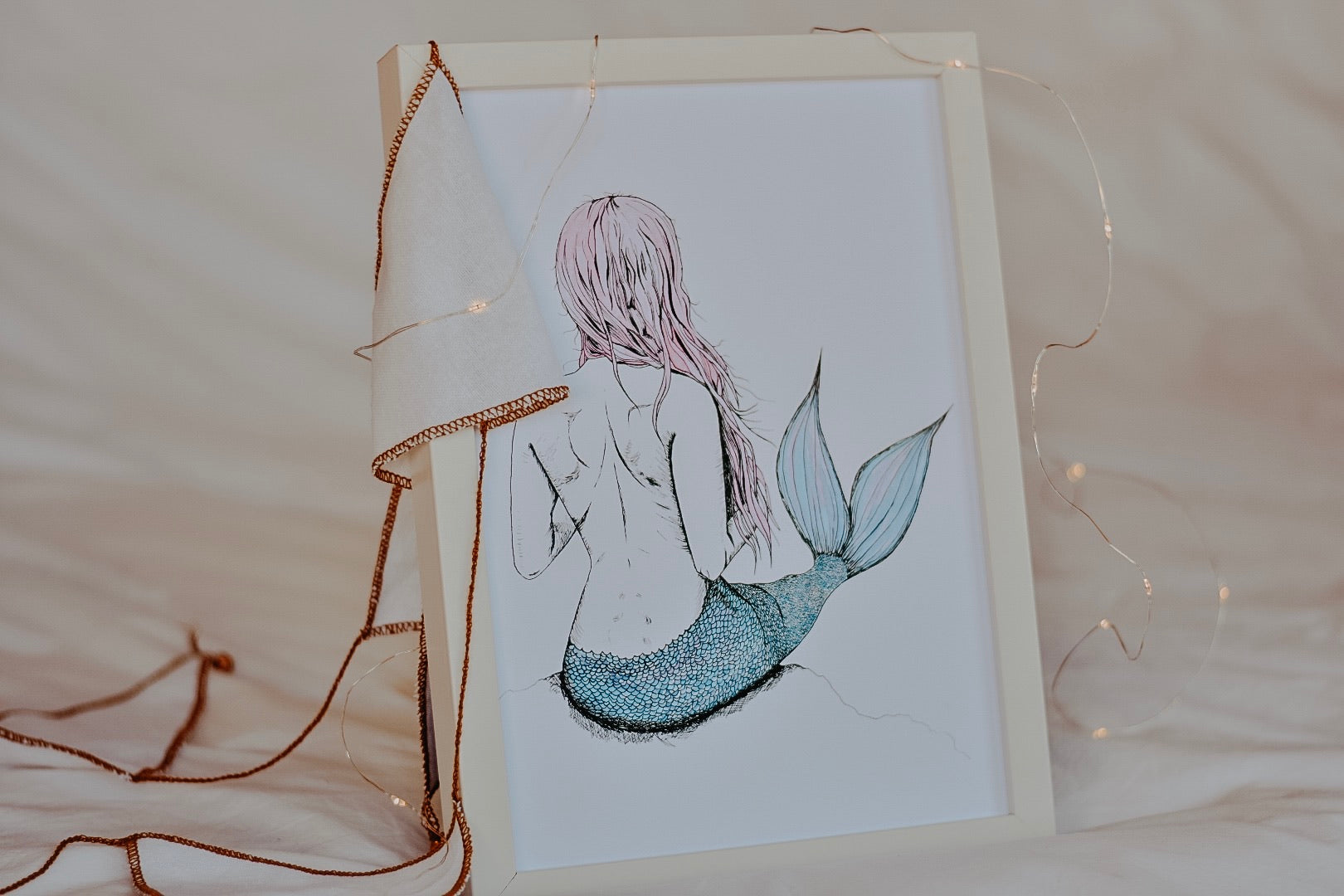 Gilled Goddess Mermaid - Pastel