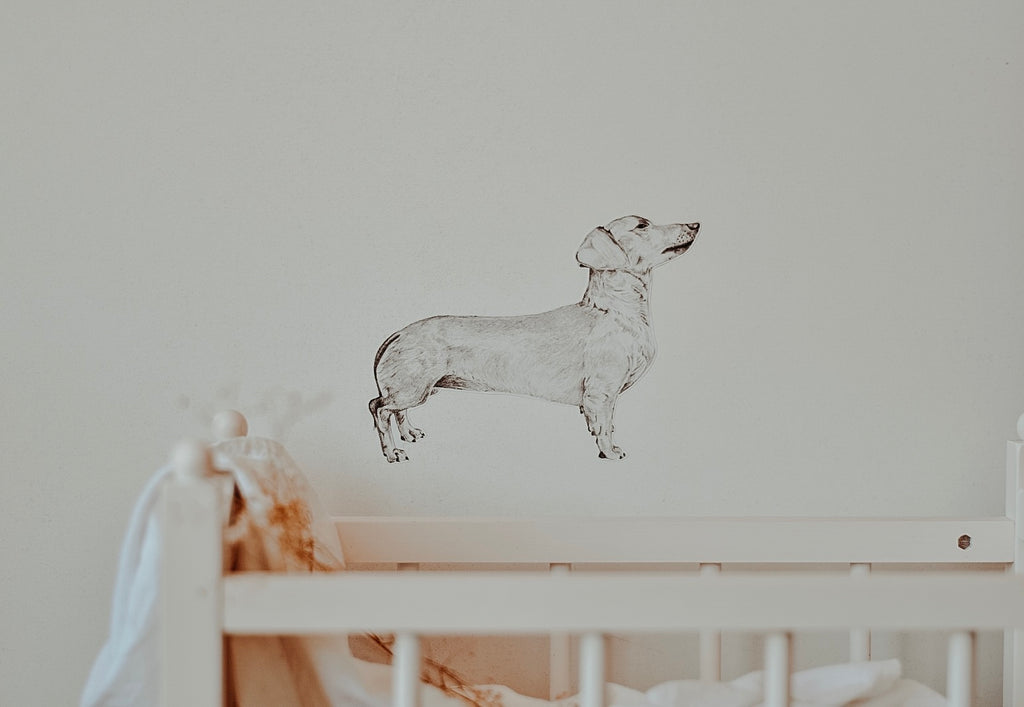 Georgina the Dachshund - Fabric Wall Decal