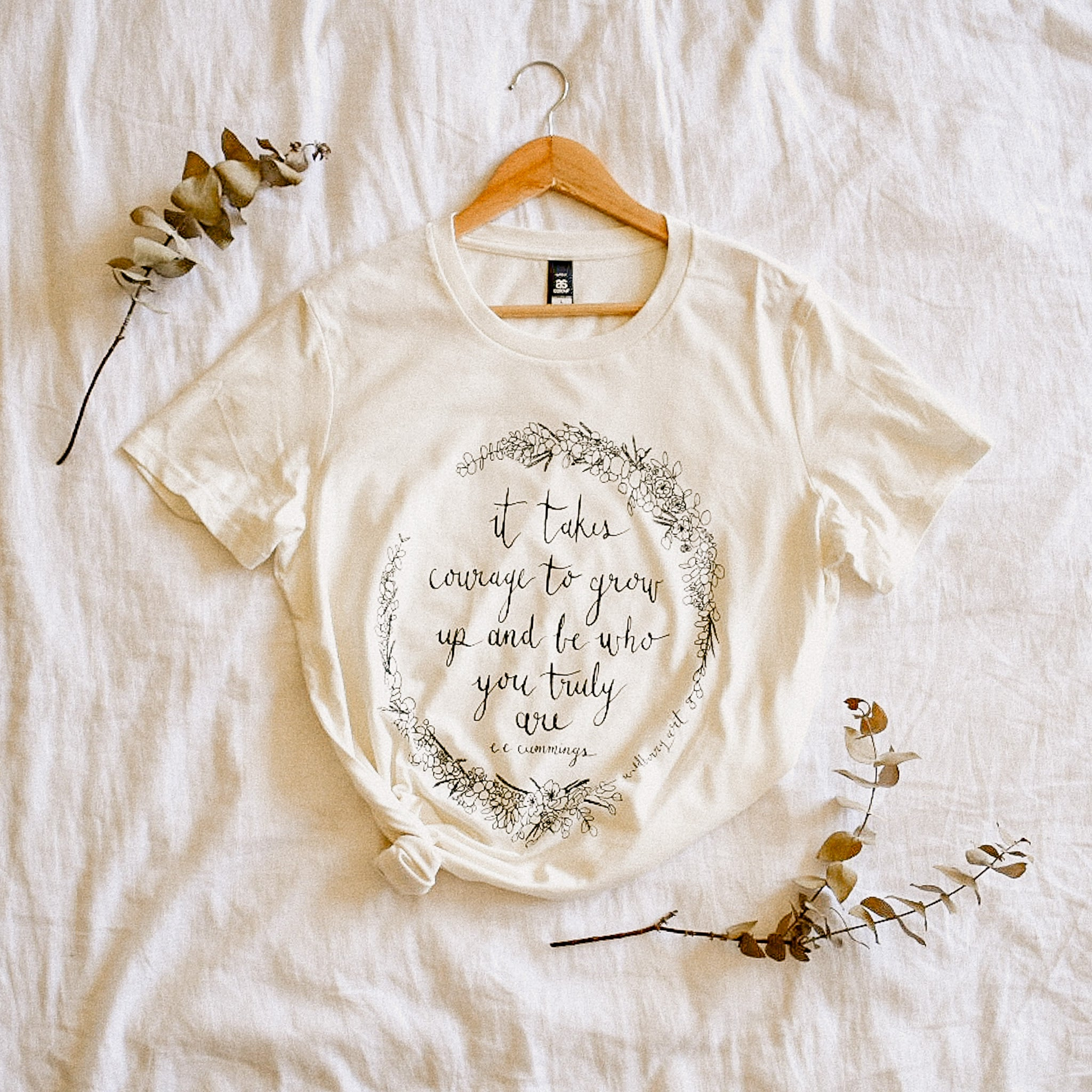 It Takes Courage Womens Tee - Natural