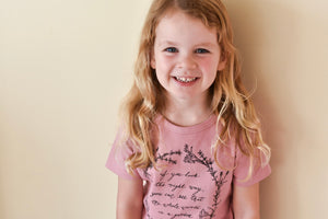 Herb Wreath KIDS Tee - Rose Quartz