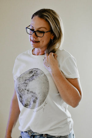 Moon Womens Tee - Natural