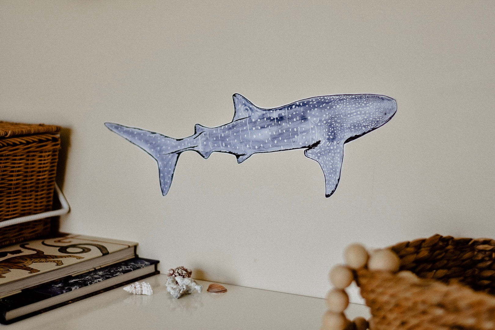 Anouska the Whale Shark Fabric Wall Decal - Separate