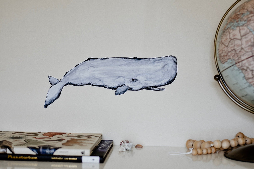 Captain Herman the Sperm Whale Fabric Wall Decal - Separate