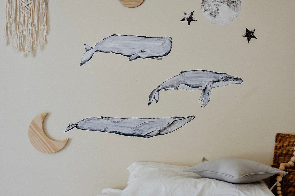 From the Deep - The Whale Collection - Fabric Wall Decals