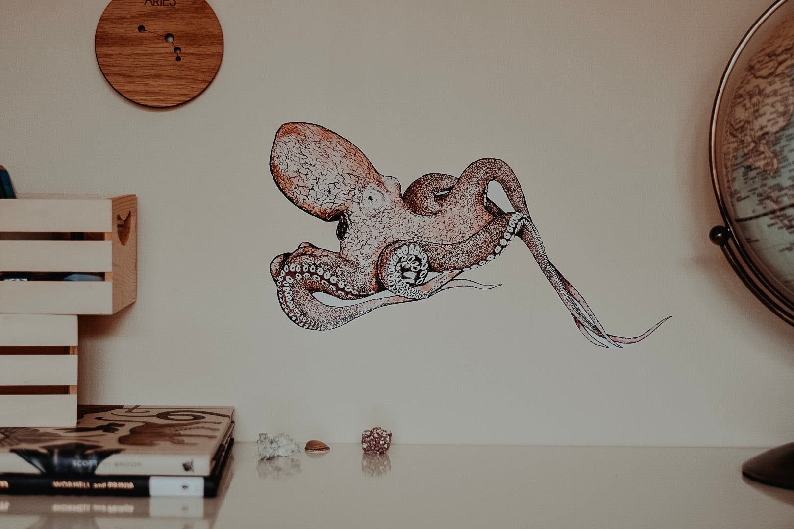 Occy the Octopus Fabric Wall Decal - Separate